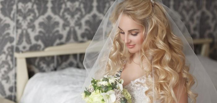 Hochzeit frisuren schulterlanges haar mit schleier