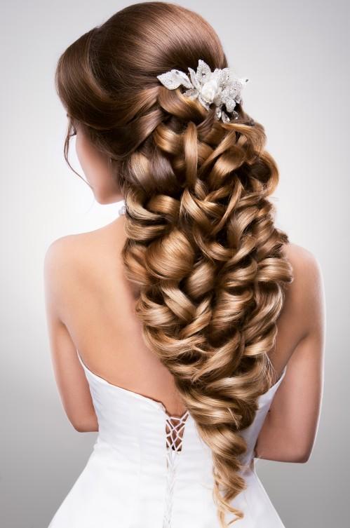 Brautfrisur fur lange haare