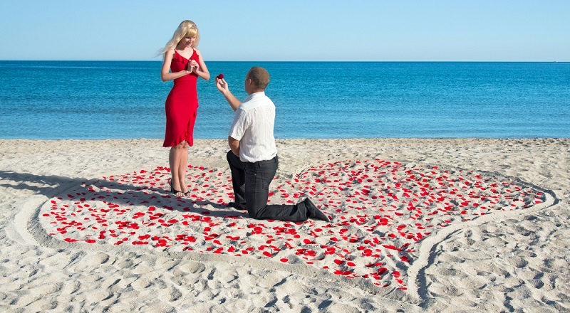 Heiratsantrag am Strand: Romantik pur (#01)