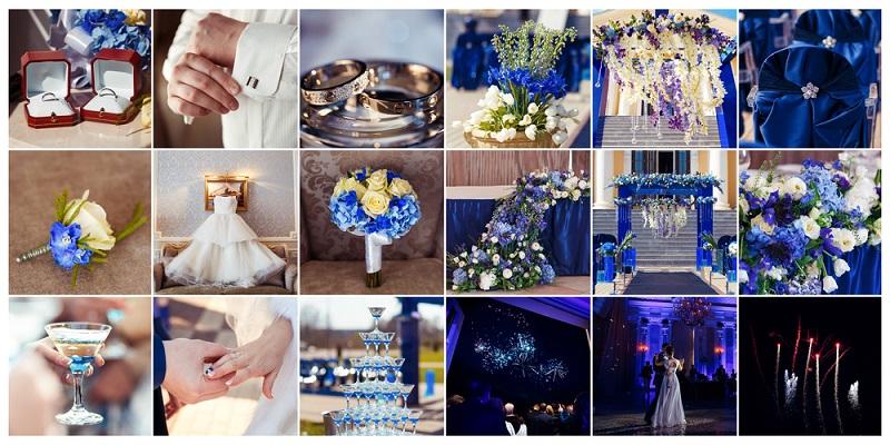 Hochzeitsfotos oder Hochzeitsbilder als hübsche Fotocollage ( Foto: Shutterstock-Nesterov)